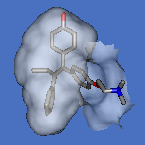 4-hydroxytamoxifen in binding pocket of ER-alpha